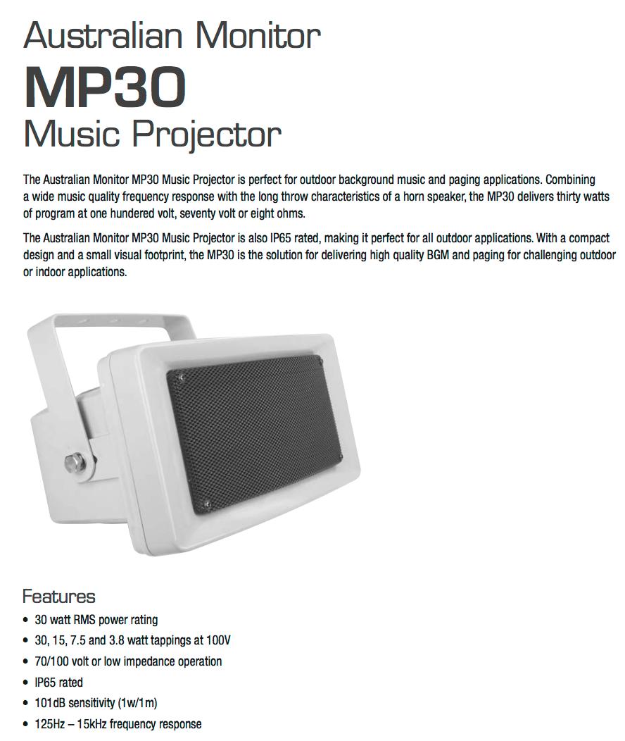 Australian monitor mp30 wide range for Mp30 projector